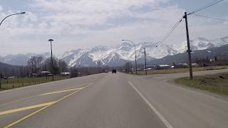 Driving to FERNIE BC (British Columbia) Canada - Amazing Mountains & Scenery