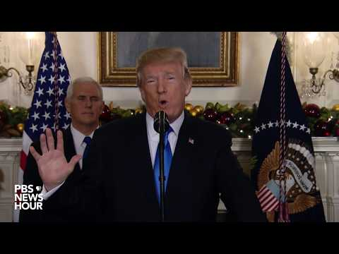 WATCH: President Trump statement on decision to recognize Jerusalem as Israel's capital