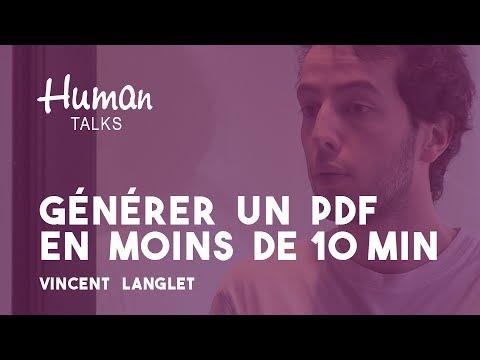 Comment générer un PDF en moins de 10 minutes par Vincent Langlet