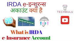 What is IRDA-E-Insurance Account - eIA - Details - Explained - In Hindi