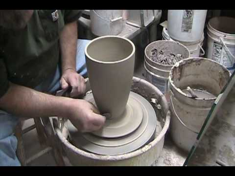 MAKING A PLASTER MOLD FOR A LANDSCAPE VASE