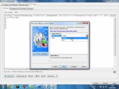 Manejo de dialogos File y folder Browse en autoplay media studio