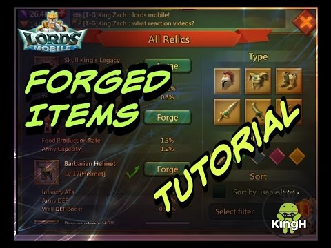 Lords Mobile: How To Forge Items