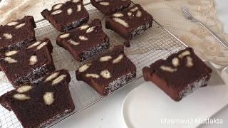 Yeni bir Tarif -Puantiyeli & Benekli  Buton Kek+Cikolatali - Yapimi çok kolay ▪Masmavi3mutfakta▪