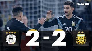 Alemania 2-2 Argentina (Amistoso Internacional - Resumen y GOLES)
