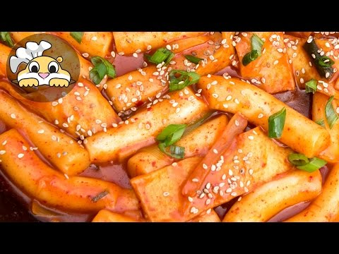 Korean food - Spicy Rice Cake (Ddeokbokki: 맛있는 떡볶기)