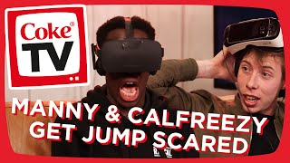 JUMP SCARES: Manny and Calfreezy play Affected! | #CokeTVMoment