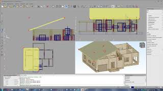 Построение крыши в К3 Коттедж 5 5