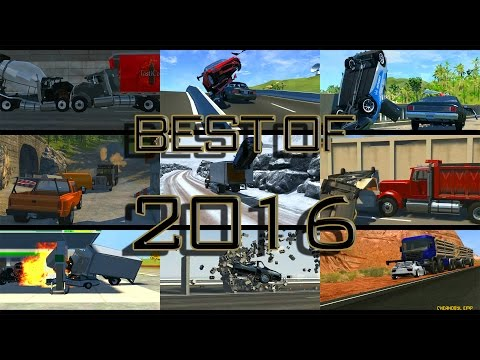 BeamNG. Drive: Best Crashes of 2016