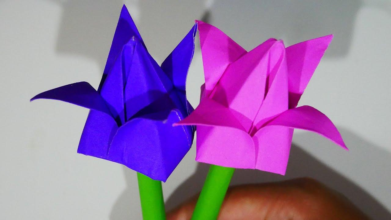 พับดอกบัว ง่ายๆ สีสันสดใส How to fold lotus (มีเสียงพูดอธิบายทุกขั้นตอน)