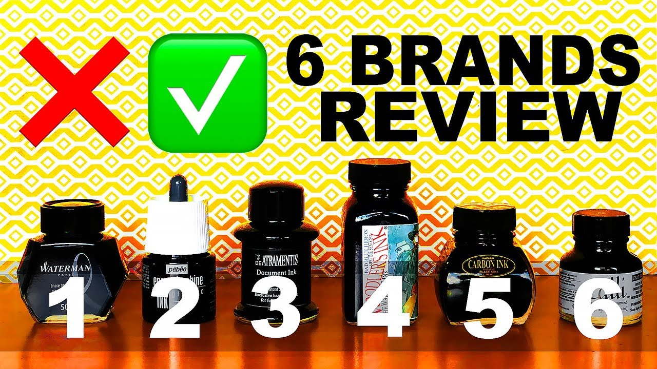Which Waterproof Ink For Your Fountain Pen 6 Brands Ink Review