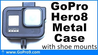 GoPro Hero 8 aluminium alloy metal case with hot shoe & cold shoe mount adapter - it's cheap & good