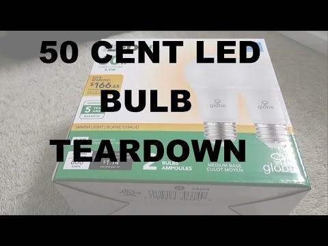 LED Bulb Teardown & Review - Lowest Price Ever - $1 For Two Pack