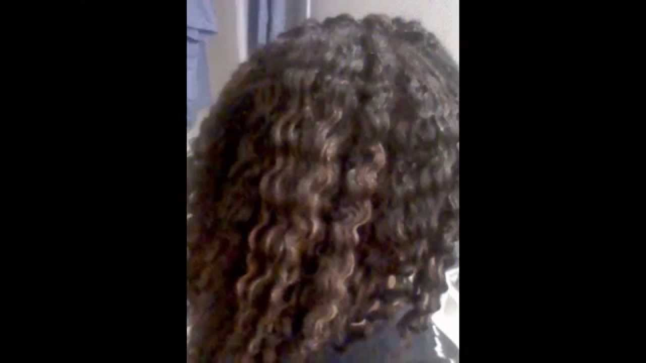 summer hairstyle: before and after braid out results on