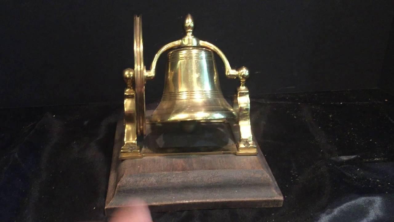 Antique Brass Pull String Doorbell