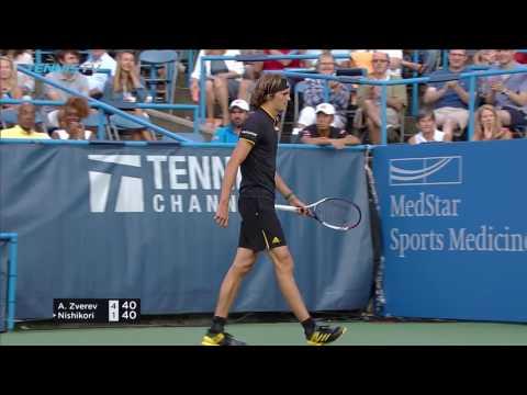 Zverev, Anderson Through To Final - Citi Open Washington 2017 Highlights Day Six