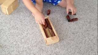 #56 Log Jam Wooden Dowel Puzzle :: Solved By A 4 Year Old