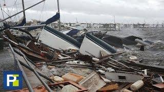 El huracán Michael deja cuantiosos daños en la zona hotelera de Panama Beach