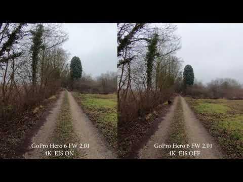 GoPro Hero 6 FW 2.01 EIS | Electronic image stabilization Test | 20Mbit
