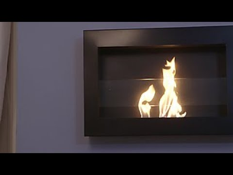How To Install A Wall Mounted Fireplace Diy Network Youtube