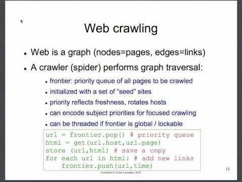 Web crawling 3: the algorithm