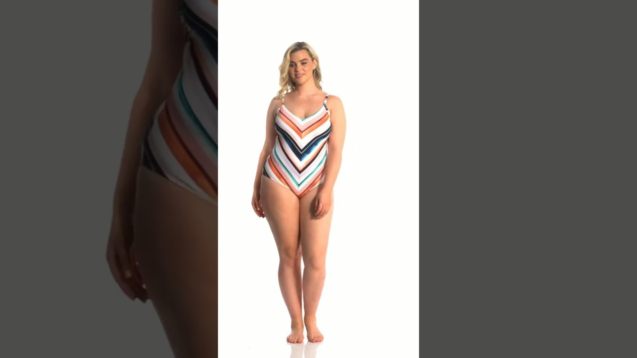 e75bb134ca6 La Blanca Plus Size Meridian Mitered One Piece Swimsuit | SwimOutlet.com -  YouTube