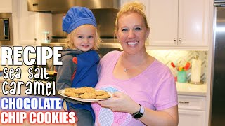 Bake the Perfect Sea Salt Caramel Chocolate Chip Cookie || Kid Size Cooking