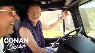 Conan Goes To Trucking School  'Late Night With Conan O'Brien'