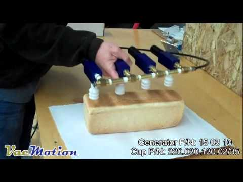 Handling loaves of bread with suction cups