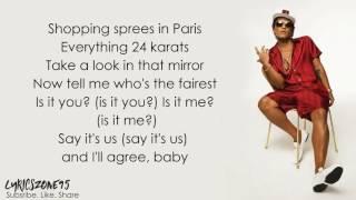 Bruno mars that's what I like (lyrics)