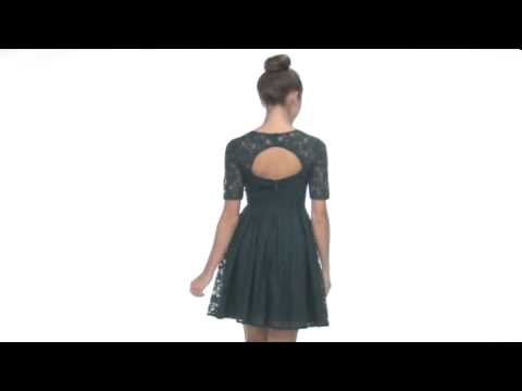 78299dd66f8 BCBGMAXAZRIA Petite Julya Lace Cocktail Dress SKU  8075541 - YouTube