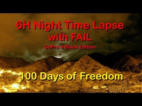 6h Night Time Lapse with Fail - La Gomera - Apartamentos Telares - 1080p - GoPro 4 Black Edition