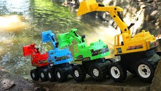 Excavator Toys Water Slider - Dump Truck | Ship Construction Vehicles Toys