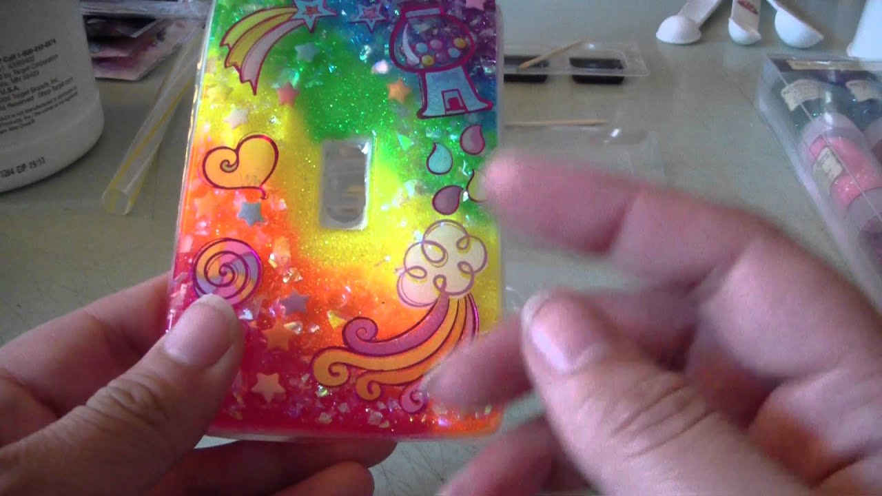 My First Resin Light Switch Cover Youtube