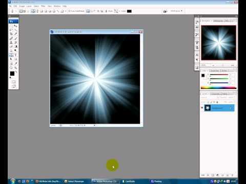 Photoshop - tạo hiệu ứng chùm sáng