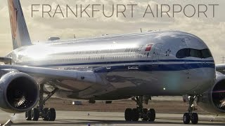 Frankfurt Airport Planespotting - Rwy25R approaches with strong winds