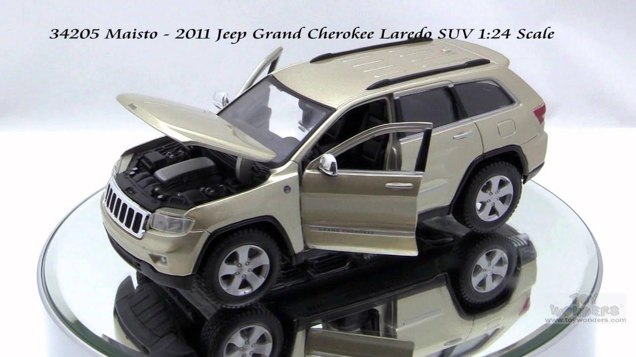 34205 Gold Maisto 2011 Jeep Grand Cherokee Laredo Suv 124
