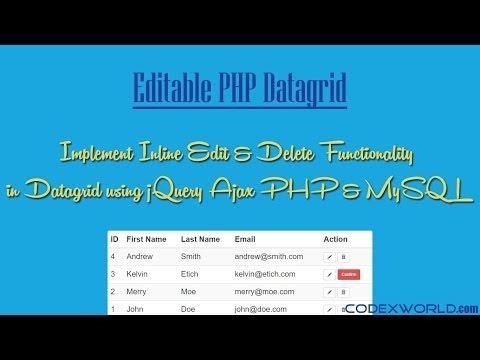 Inline Table Editing using jQuery Ajax PHP and MySQL - CodexWorld
