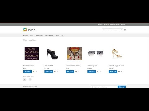 Create custom widget in Magento 2