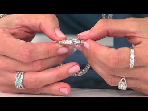 Epiphany Diamonique Princess Cut Channel Set Tennis Bracelet with Jennifer Coffey