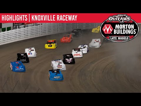 World of Outlaws Morton Buildings Late Model Series iRacing Invitational Feature Event Highlights from Knoxville Raceway in Knoxville, Iowa on April 6th, 2020. - dirt track racing video image