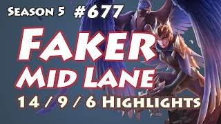 SKT T1 Faker - Quinn vs Gangplank - IM Frozen, KR LOL SoloQ Highlights