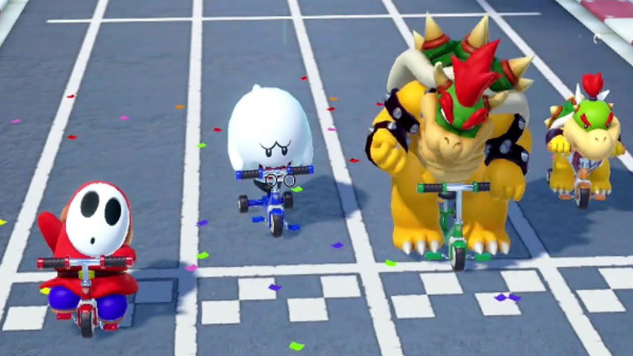 Super Mario Party Wario Luigi Koopa Troopa And Bowser Jr