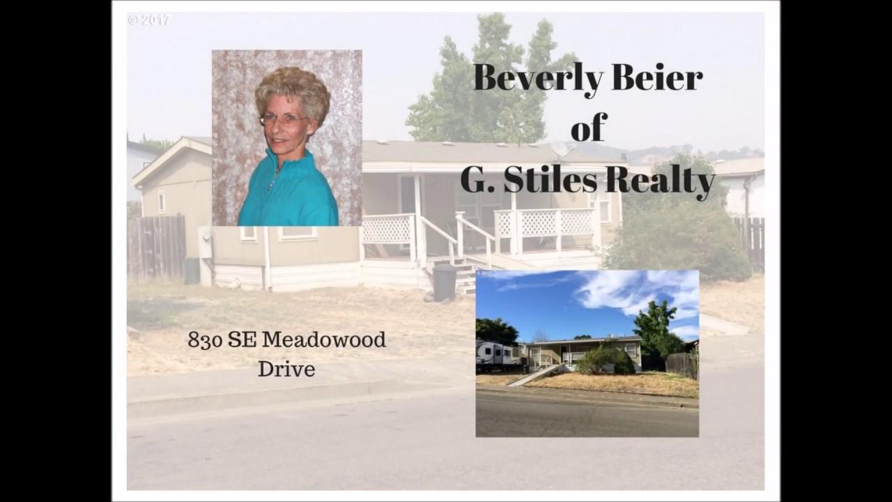Beverly Beier - G Stiles Realty - (541) 672-1616 - Meadowood Dr - MLS# 17451804