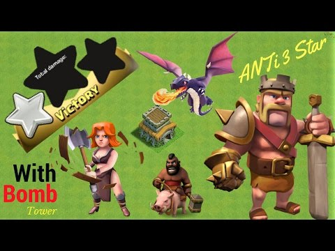 th8 war base 2017|  anti 3 star + replays - anti dragon anti gowipe anti hogs - clash of  clans