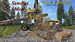 Ciao a tutti ragazzi da IronFarmer, scopriamo insieme una chicca pubblicata dal Team FSI, si tratta di una mod sviluppata da Celsa, che ha lo scopo di produrre residui di lavorazione del taglio legname, ovvero segatura, visibile in gioco sotto forma di ci