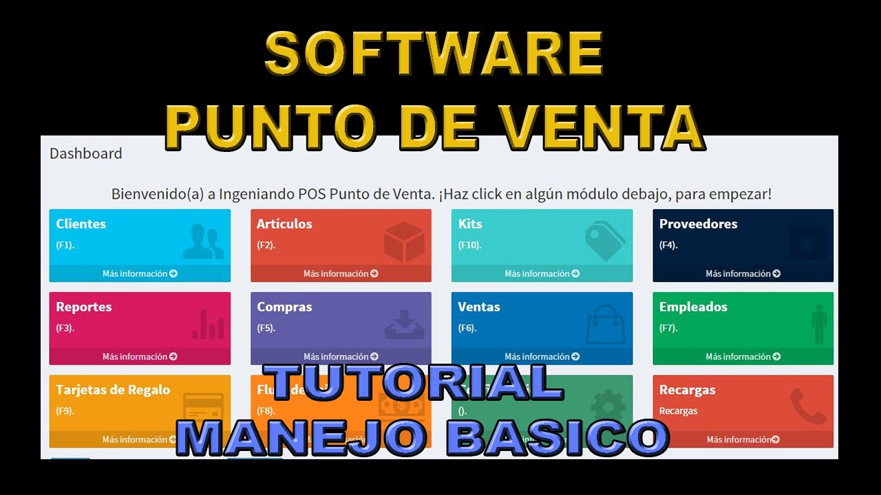 Software Punto de Venta Tutorial basico - YouTube a80bed0eabd6