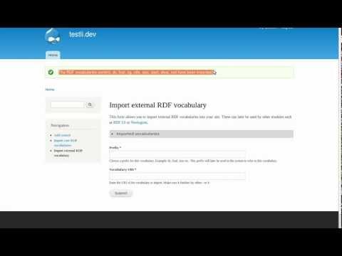 "Drupal7 Semantizer: How ""RDF Extensions"" (RDFx) work"