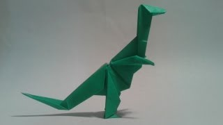 Origami - How To Make An Origami Dinosaur (t-rex)