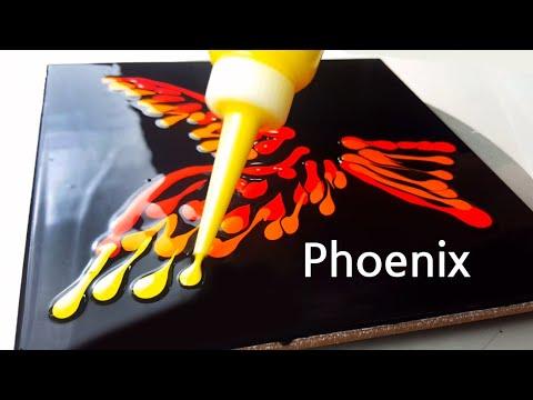 Download (441) Phoenix | Plastic wrap smash | Fluid Acrylic Pouring for beginners | Designer Gemma77